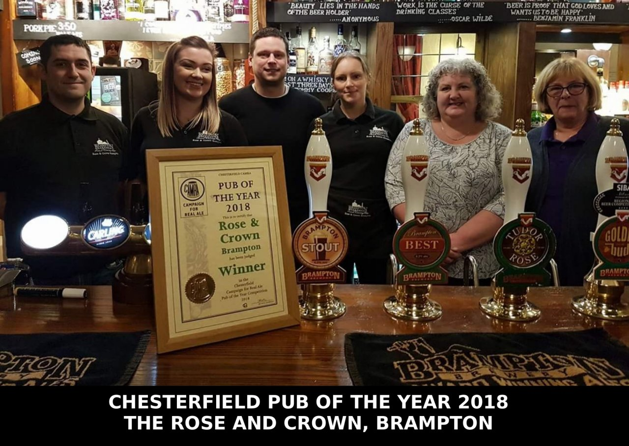 2018 Pub of the Year The Rose and Crown, Brampton
