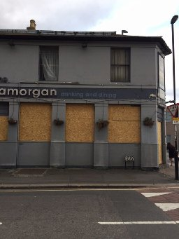 The Glamorgan, now boarded up, future uncertain.