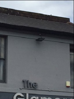 Lead removed from top of roof.