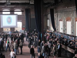 Drinkers enjoying a relaxed Friday lunch time session at the 2017 Swindon Beer Festival.