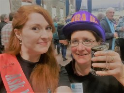 Kat & Abi recruiting in members for CAMRA