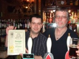 Saved from conversion to non-pub use by a vibrant local campaign, the Pineapple and its manager Simon Rennie (left) take the reward for revitalising the pub, which went on to win the Branch Pub of the Year Award.
