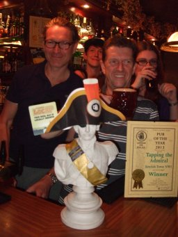Celebrations at Tapping The Admiral