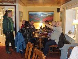 CAMRA members in Waltons Bar in the Crown Hotel