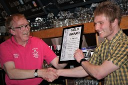 Charters, under new manager, Warren Allett was nominated by Mick Slaughter for improving and increasing the range of beers sold on the boat.