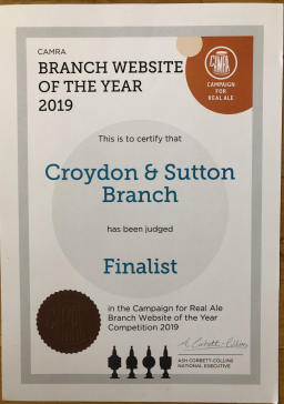 Finalist - Website of the Year 2019