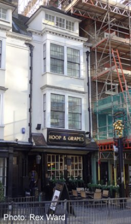 Exterior of The Hoop and Grapes, Aldgate