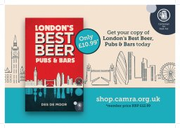 London's Best Beer, Pubs and Bars