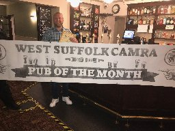 Fox and Hounds first post ockdown PoTM winner Sep 2020