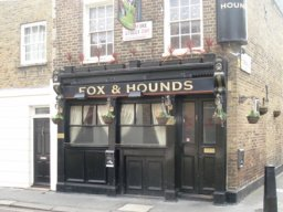 Exterior of The Fox & Hounds, Pimlico