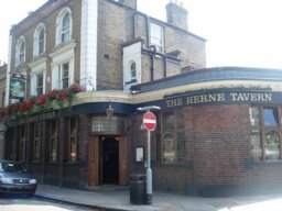 Exterior of The Herne Tavern