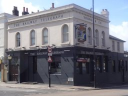 Exterior of The Railway Telegraph, Thornton Heath