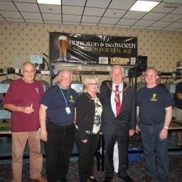 L-R Jim Witt, Roger Brown, Jean Longden, Barry Longden, Barry Everitt.