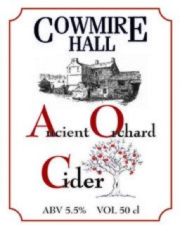 A logo for teh Cowmire hall cider maker