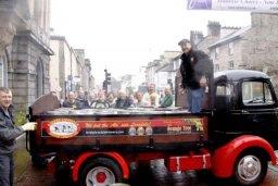 The Kirkby Lonsdale 1974 Commer Karrier Bantam delivering to the Westmorland Beer Festival