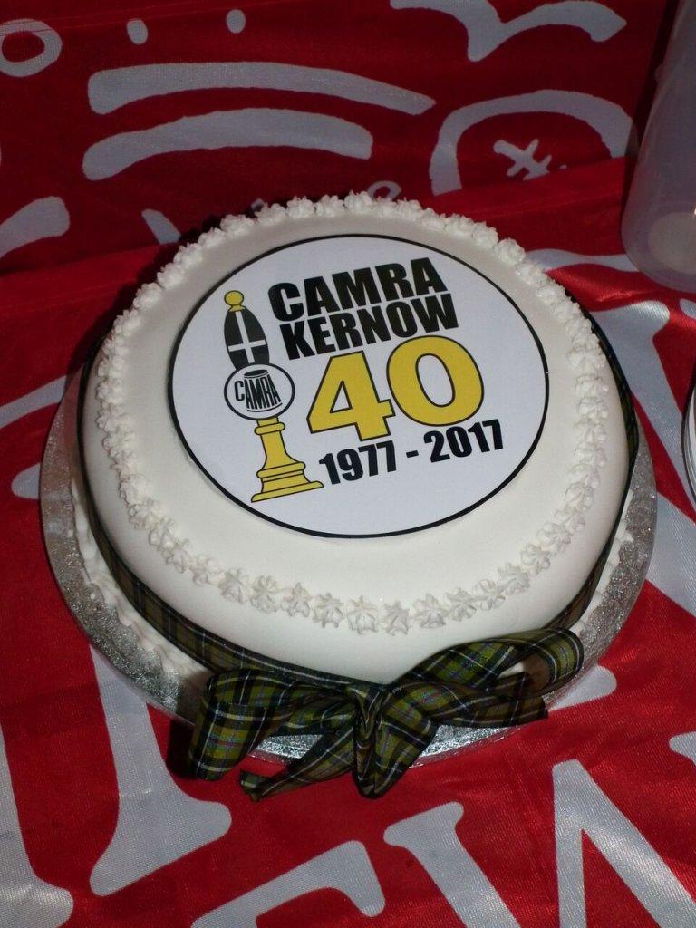 Kernow CAMRA 40th Anniversary cake