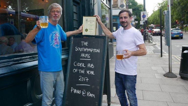 Ash Millard (right) accepts the Award from Branch Chairman John Cryne