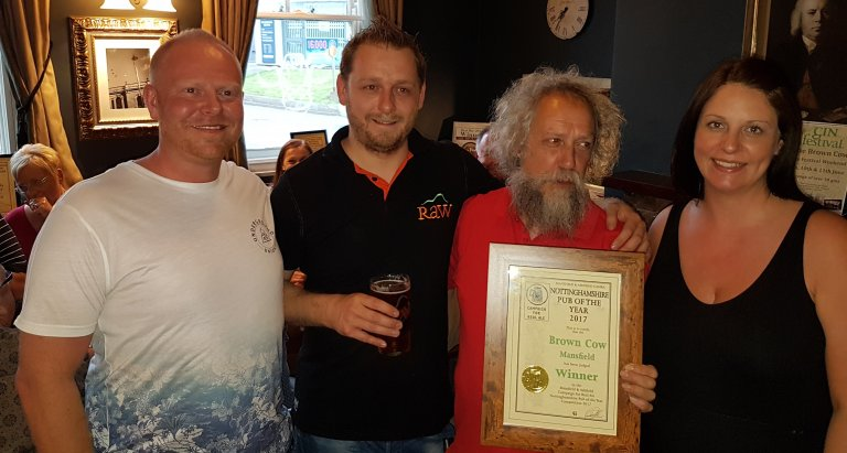 2017 Branch Winning Pub from our Nottinghamshire Pubs within our branch area.