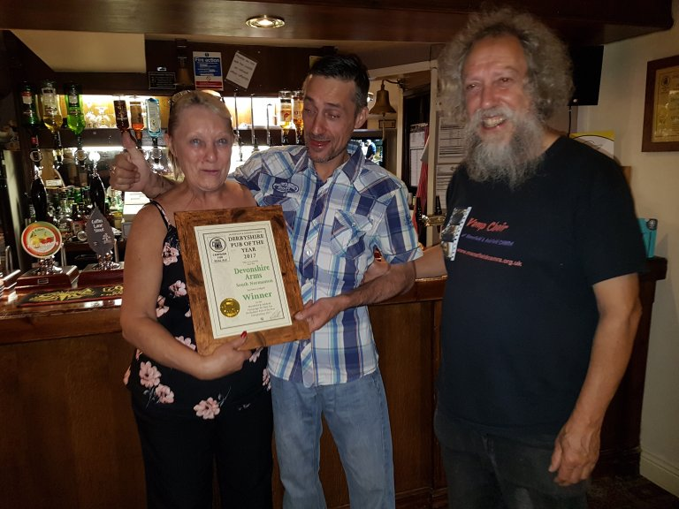 2017 Branch Winning Pub from our Derbyshire Pubs within our branch area.