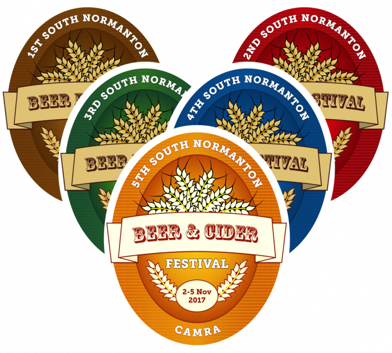 Here is the logo for the 5th South Normanton Beer & Cider Festival.
