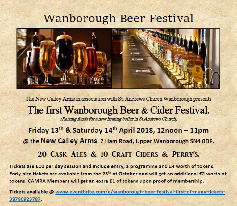 The first Wanborough Beer & Cider Festival