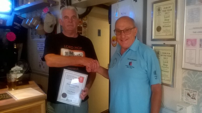 Lord Hop Warwickshire PoTY 2018 third place