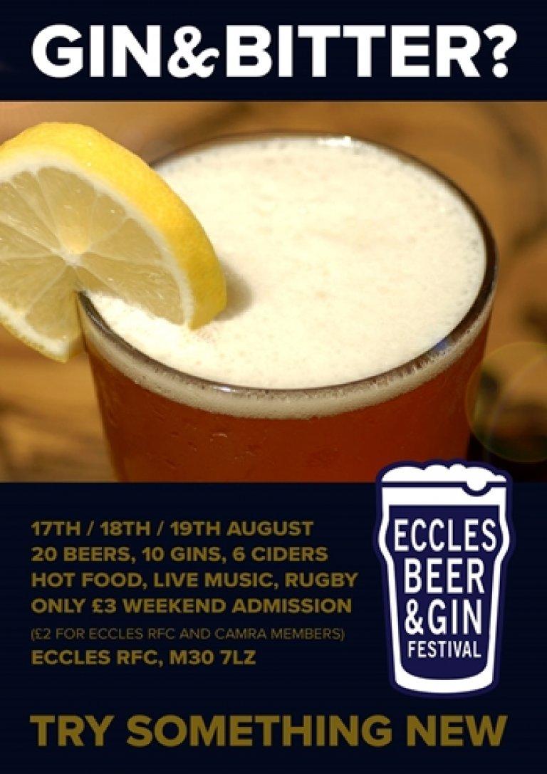 Main poster for beer & gin festival