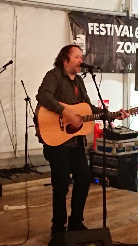 Adam Parfitt hits the stage