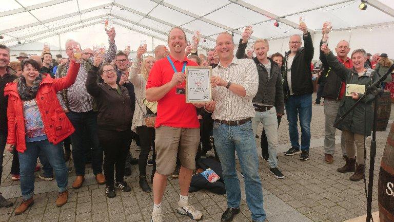 St Ives Cider certificate award