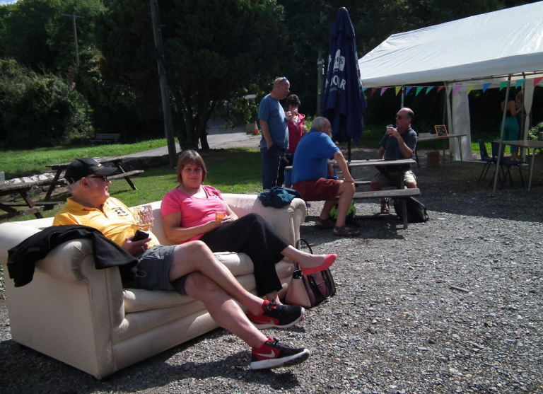 Lounging Outside at the Wilcove Inn