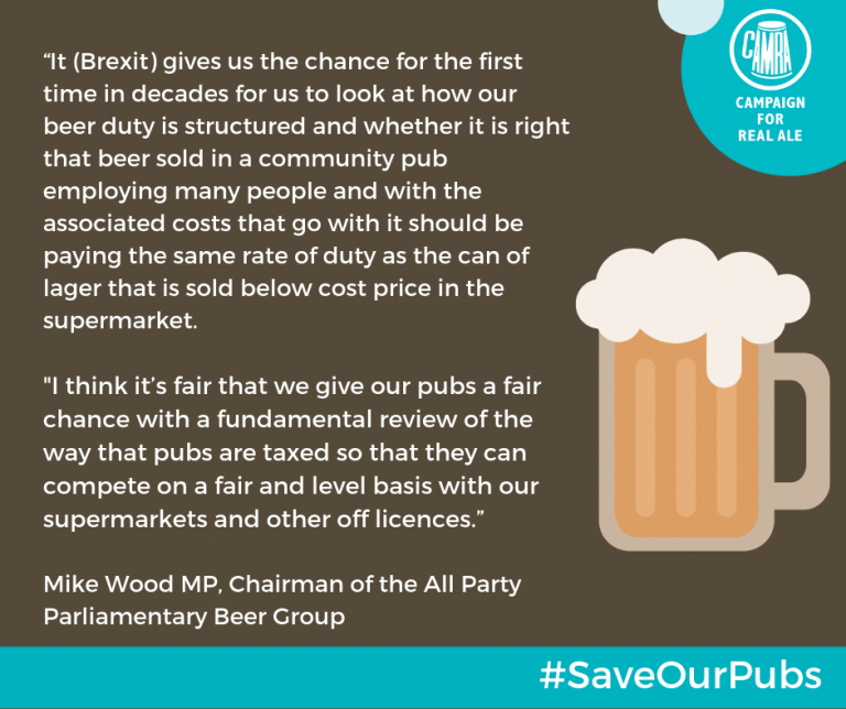 Pic of CAMRA Statement about Pubs Nov 2018