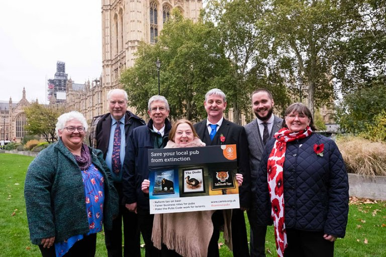 Pic of CAMRA members lobbying Parliament 31st October 2018