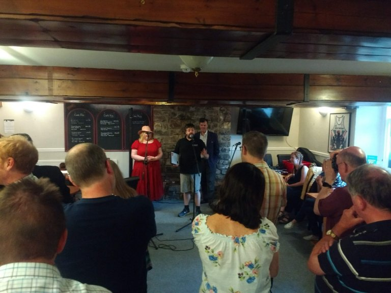 Phil Walker Accepting West Pennines CAMRA Cider Pub of the Year 2019