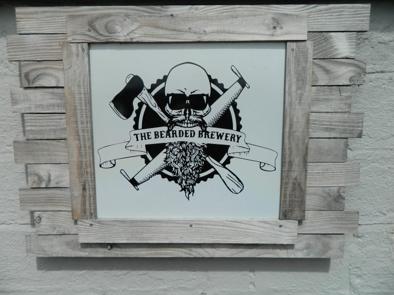 Bearded Brewery Sign