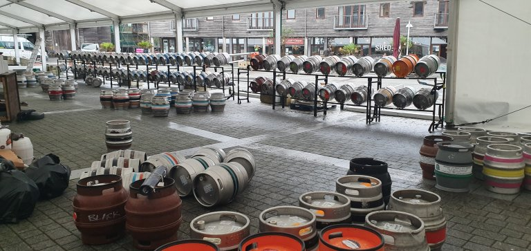 Sort out the 246 Barrels....and 96 ciders into order and rack them up..