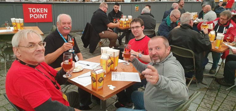 Some of our CAMRA tasting panel members join the panel of Judges