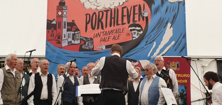 Truro Male voice Choir kick off the Cornish Shouts and Sing-a-longs's