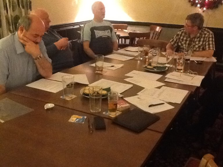 Branch meeting attendees 10th Dec 2014 at Norton Arms, Runcorn