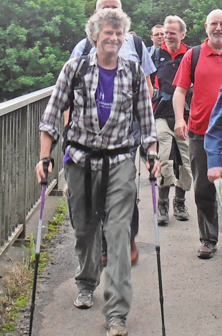 Bob leading a walking group