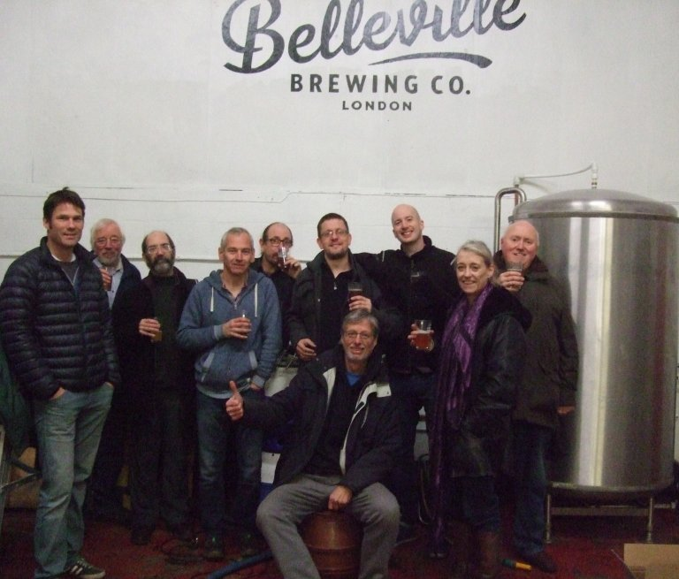 Members of the London Tasting Panel and the Belleville team.