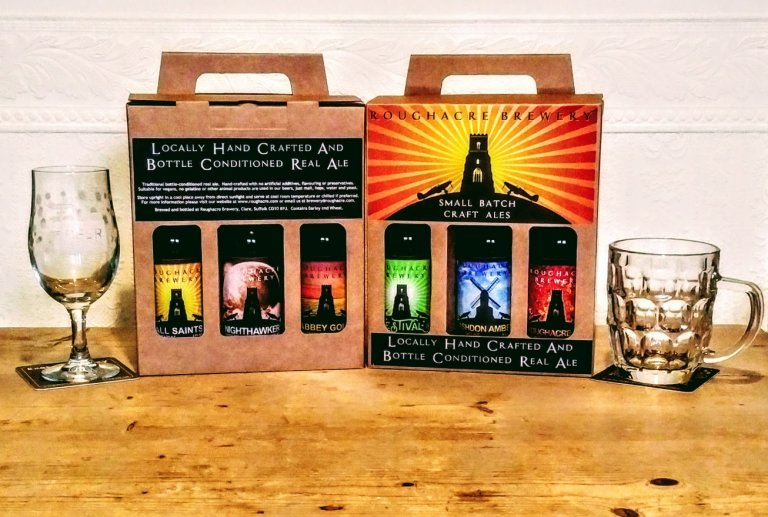 Roughacre selection box used in online beer tasting after 2021 AGM which was also on line