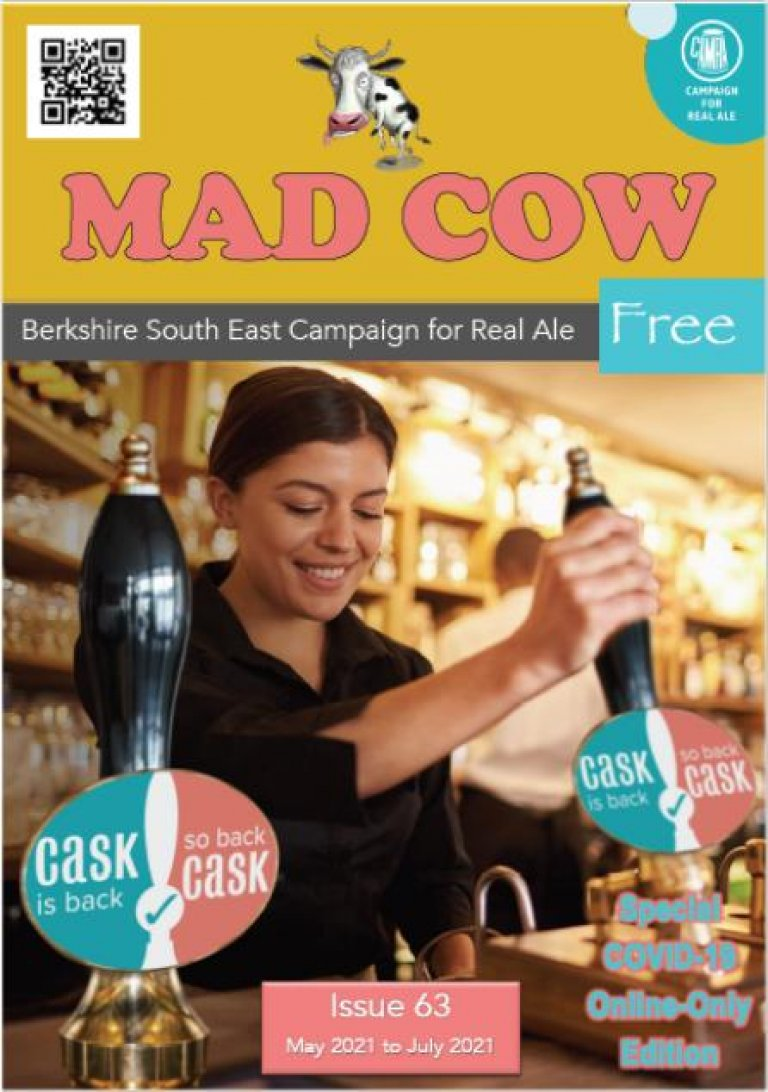 Cover for Issue 63 of the Mad Cow branch magazine