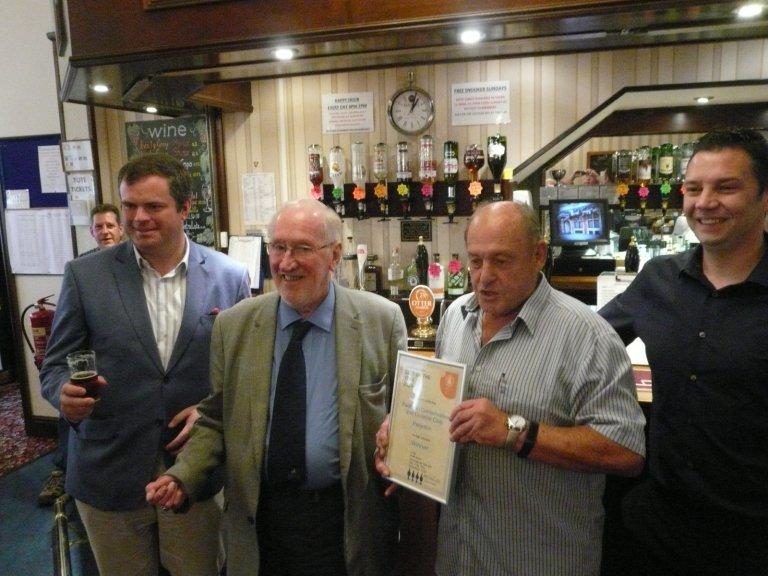 Presentation to Gwyn Jones, Chairman of Paignton Conservative Club