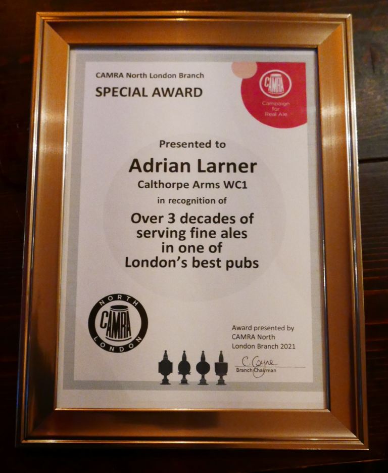 The Award in full.