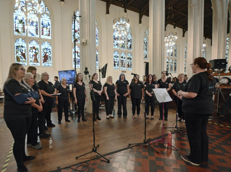 Honington Military Wives Choir in the Cathedral