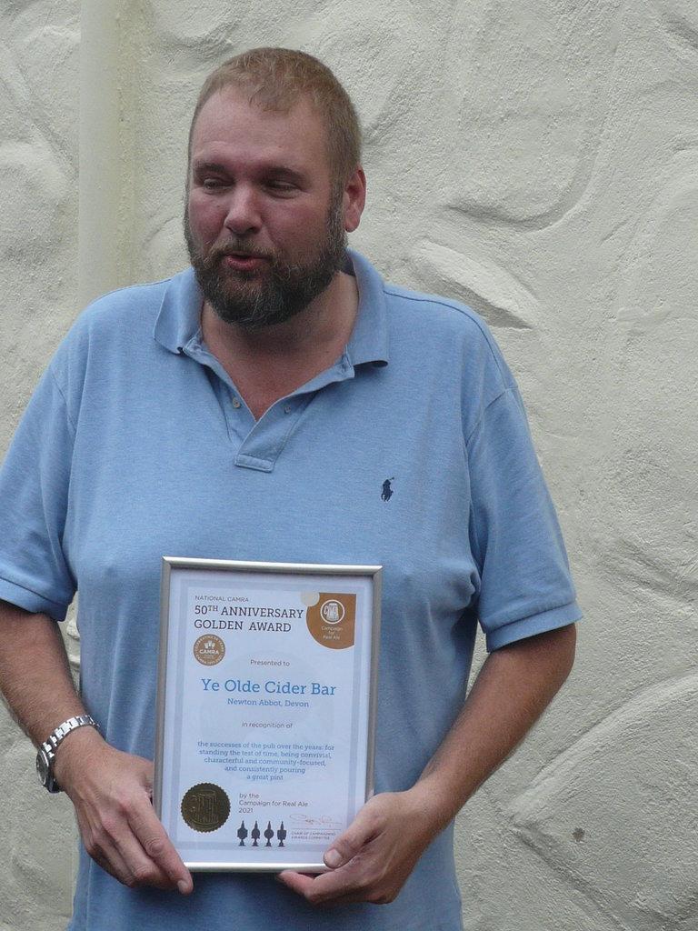 Julian with the Award