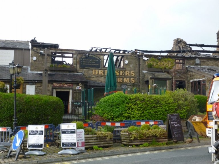 Dressers Arms fire damage