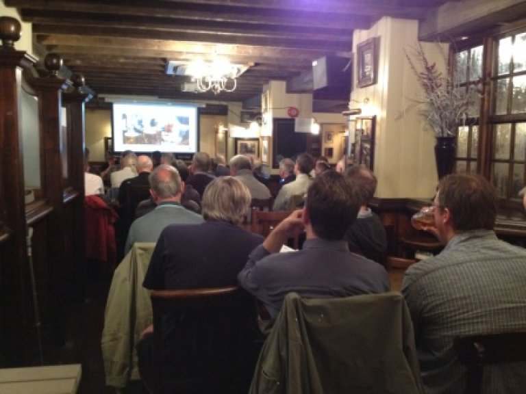 A full house of campaigners takes notes at CAMRA's seminar on saving London's pubs.