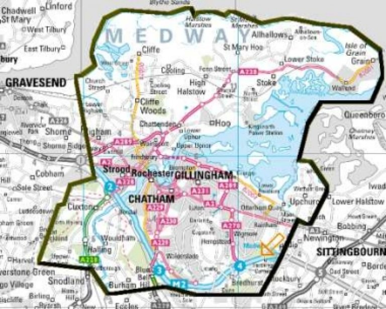 A map showing the area covered by our branch.