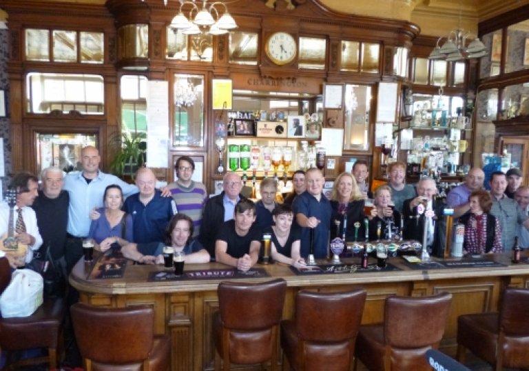 Dave Murphy centre right in short blue sleeved shirt and the team. Camden New Journal, 3rd September 2014.